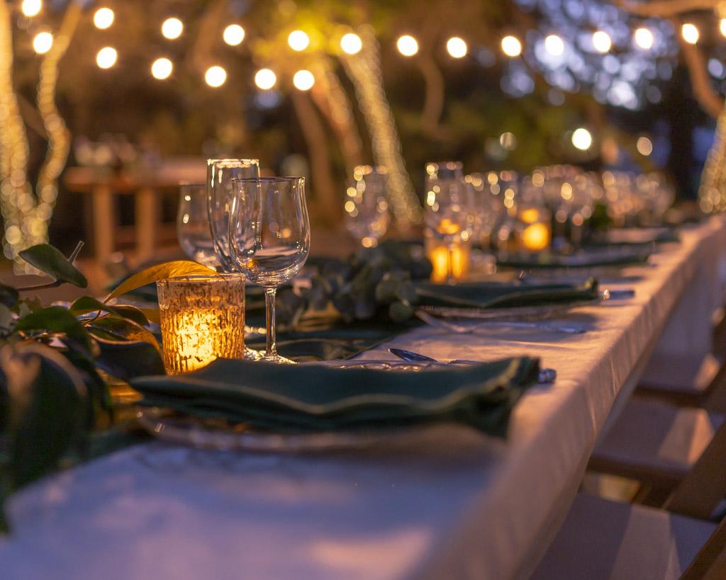 Secret Garden Lighted Table Setting